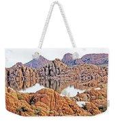 Prescott Arizona Watson Lake Rocks, Hills Water Sky Clouds 3122019 4868 Weekender Tote Bag