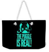 Puggle Is Real Funny Humor Pug Dog Lovers Weekender Tote Bag