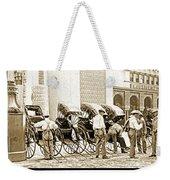 Rickshas And Drivers, 1904 Worlds Fair Weekender Tote Bag