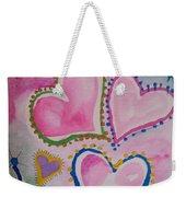 Seven Hearts Weekender Tote Bag