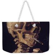 Skull With Cigarette  Weekender Tote Bag