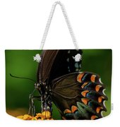 Spicebush Swallowtail On Lantana Blooms Weekender Tote Bag