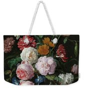 Still Life With Flowers In A Glass Vase, 1683 Weekender Tote Bag