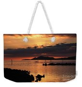 Sunset Over Maunalua Bay Weekender Tote Bag by Charmian Vistaunet