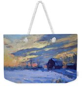 Sunset Over The Farm Weekender Tote Bag