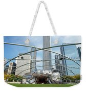 The Great Lawn, Trellis, Bandshell And Jay Pritzker Pavilion, Mi Weekender Tote Bag