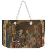 The Nativity With Saints Altarpiece  Weekender Tote Bag