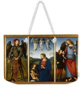 Three Panels From An Altarpiece  Certosa  Weekender Tote Bag