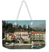 Town In The Shore Of Lake Como Weekender Tote Bag
