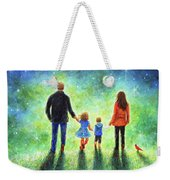 Twilight Walk With Mom And Dad Weekender Tote Bag