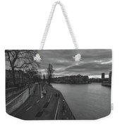 Walking Along The Seine At Sunset Weekender Tote Bag
