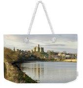 Warkworth Castle And River Aln Weekender Tote Bag