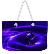 Water Drop Falling Into Water Weekender Tote Bag