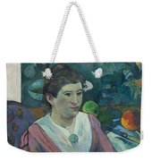 Woman In Front Of A Still Life By Cezanne Weekender Tote Bag