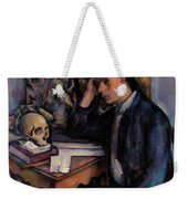 Young Man And Skull Weekender Tote Bag