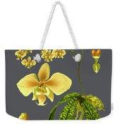 Orchid Old Print Weekender Tote Bag