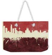 Liverpool England Skyline Weekender Tote Bag