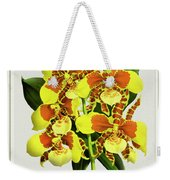 Orchid Vintage Print On Tinted Paperboard Weekender Tote Bag