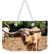 Longhorn Bull In The Paddock Weekender Tote Bag