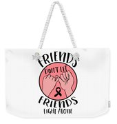 Breast Cancer Awareness Art For Warrior Women Light Weekender Tote Bag