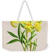 Orchid Vintage Print On Colored Paperboard Weekender Tote Bag
