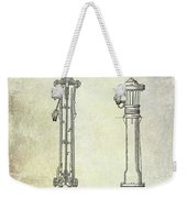 1859 Fire Hydrant Patent Weekender Tote Bag