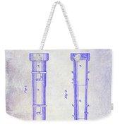 1860 Fire Hose Nozzle Patent Blueprint Weekender Tote Bag