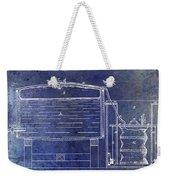 1870 Beer Preserving Patent Blue Weekender Tote Bag