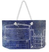 1870 Beer Preserving Patent Blue Weekender Tote Bag