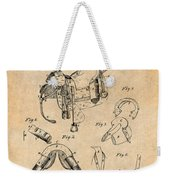 1880 Military Saddle Patent Print Antique Paper Weekender Tote Bag
