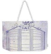 1888 Whiskey Or Beer Barral Patent Blueprint Weekender Tote Bag