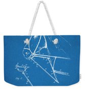 1891 Horse Harness Attachment Patent Print Blueprint Weekender Tote Bag