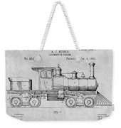 1891 Huber Locomotive Engine Gray Patent Print Weekender Tote Bag