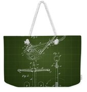 1892 Ships Anchor - Dark Green Blueprint Weekender Tote Bag