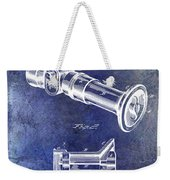 1896 Fire Hose Spray Nozzle Patent Blue Weekender Tote Bag