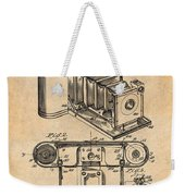 1899 Photographic Camera Patent Print Antique Paper Weekender Tote Bag