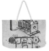 1899 Photographic Camera Patent Print Gray Weekender Tote Bag