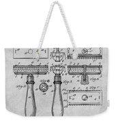 1901 Gillette Safety Razor Gray Patent Print Weekender Tote Bag