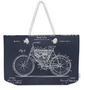 1901 Stratton Motorcycle Blackboard Patent Print Weekender Tote Bag