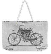 1901 Stratton Motorcycle Gray Patent Print Weekender Tote Bag