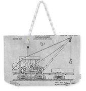 1903 Railroad Derrick Gray Patent Print Weekender Tote Bag