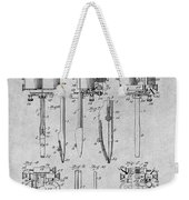 1904 Wagner Tattoo Machine Gray Patent Print Weekender Tote Bag