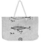 1909 Lockhart Antique Fishing Lure Gray Patent Print Weekender Tote Bag