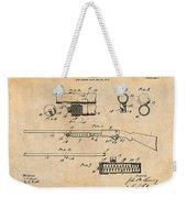 1913 Remington Model 17 Pump Shotgun Antique Paper Patent Print Weekender Tote Bag