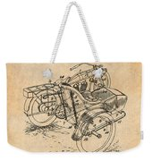 1913 Side Car Attachment For Motorcycle Antique Paper Patent Print Weekender Tote Bag