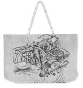 1913 Side Car Attachment For Motorcycle Gray Patent Print Weekender Tote Bag