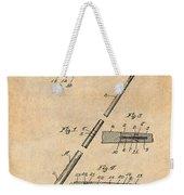 1917 Billiard Pool Cue Antique Paper Patent Print Weekender Tote Bag