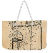 1919 Anesthetic Machine Antique Paper Patent Print Weekender Tote Bag