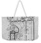 1919 Anesthetic Machine Gray Patent Print Weekender Tote Bag