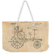 1919 Antique Tractor Antique Paper Patent Print Weekender Tote Bag